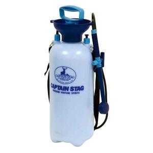 簡易シャワー ポンピングシャワー7.5L  M-9537 ホースの長さ1.3m 20回のポンピングで約1.5分使用可能(満水時)防災用品 アウトドア キャンプ 海水浴|estoah