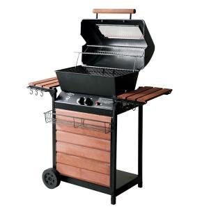 ガスバーベキューグリル ウッディ  2段保温棚 遠赤外線 BBQ バーベキュー アウトドアパーティ|estoah