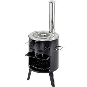 CAPTAIN STAG キャプテンスタッグ KAMADDO かまど 1 煙突ストーブ 薪ストーブ 焚き火 バーベキュー ダッチオーブン|estoah