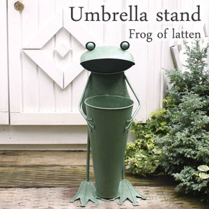 傘立て かさ立て ビッグフロッグ ガーデニング雑貨 ブリキのカエル 蛙 かえるのオブジェ カエル 新築祝い 贈り物 estoah