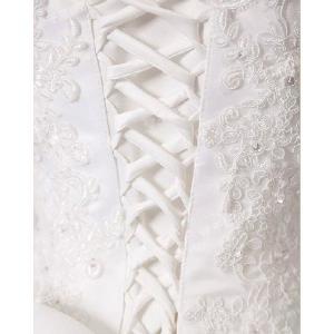 ウェディングドレス ベール 二次会 結婚式 披露宴 花嫁 衣装 スレンダー レース ストール ロングドレス 韓国風 大きいサイズ|esunshop|04