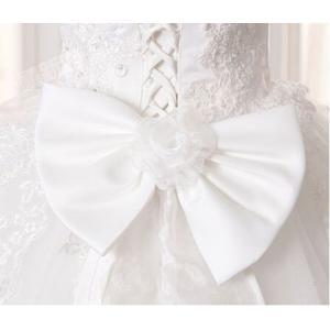 ウェディングドレス ベール 二次会 結婚式 披露宴 花嫁 衣装 スレンダー レース ストール ロングドレス 韓国風 大きいサイズ|esunshop|05