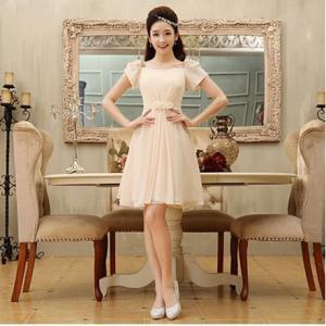 ウェディングドレス ミニドレス ショートドレス ショットドレス イブニングドレス パーティードレス 花嫁 二次会 結婚式 披露宴 韓国風 色選択可 esunshop