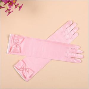 子供用 フォーマル グローブ 結婚式 フラワーガール アクセサリー 手袋 キッズ 女の子 ピンク/ホワイト 5-10歳|esunshop