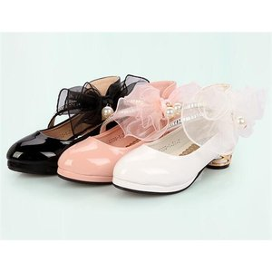キッズ サンダル 女の子 ガールズ ジュニア 子供 ローヒール 靴 シューズ 可愛い 姫系 三色 esunshop