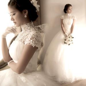 レースウェディングドレス プリンセス  ビスチェ 二次会 結婚式 披露宴 花嫁 衣装 スレンダー ロングドレス 韓国風 大きいサイズ|esunshop|02