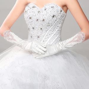 ウェディング グローブ 花嫁 結婚式 披露宴 二次会 手作リ ウェディングドレス プリンセスドレス 素敵 手袋 グローブ glove 飾り物 ブライダル用|esunshop
