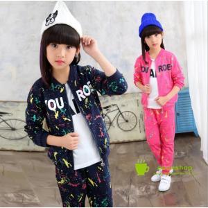 韓国風子供ジャージ 上下セット スウェット セットアップ パーカー トレーニングウェア スポーツウェア キッズ 女の子 ジュニア 子供服|esunshop