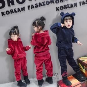 韓国風子供ジャージ 上下2点セット スウェット セットアップ パーカー トレーニングウェア スポーツウェア キッズ 女の子 ジュニア 子供服|esunshop