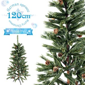 クリスマスツリー ドイツトウヒ ヌードツリー 120cm クリスマス ツリー スリム 北欧 もみの木 おしゃれ ヒンジ式 緑 deal cm19b esuon-angel