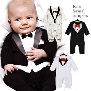 308f9550c7826 4色 選べる ロンパース ベビー 男の子 赤ちゃん 子供服 フォーマル タキシード 結婚式 お誕生日 バースデー お祝い 晴れ着 お宮参り