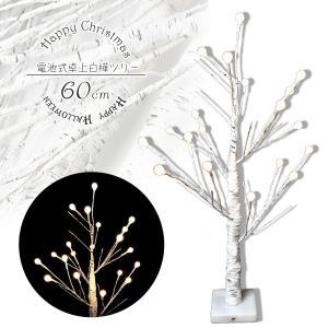 ブランチツリー 白樺 シラカバ ツリー 白 60cm 北欧 おしゃれ ウェルカムツリー  led ライト cm19a esuon-angel