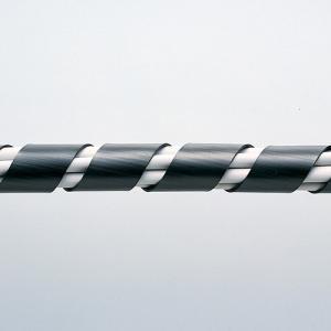 ケーブルタイ スパイラルタイプ 2m 内寸直径15mm ケーブル結束 ブラック CA-SP15BKN...
