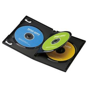 DVDトールケース(3枚収納・10枚パック・ブラック) DVD-TN3-10BK サンワサプライ