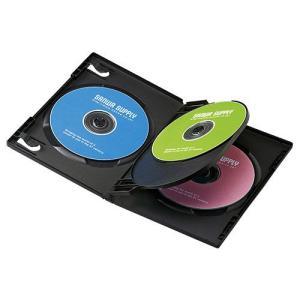 DVDトールケース(4枚収納・10枚パック・ブラック) DVD-TN4-10BK サンワサプライ