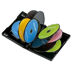 DVDケース(10枚収納・ブラック・27mm) DVD-TW10-01BK サンワサプライ