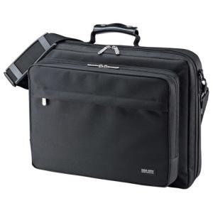 訳あり新品 PCバッグ 15.6インチワイドまで対応 ビジネス ブラック BAG-U54BK2 サンワサプライ パッケージにキズ・汚れあり|イーサプライ PayPayモール店