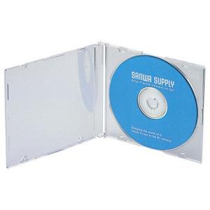 訳あり新品 DVD・CDスリムケース ブルーレイ対応 50枚セット クリア 厚さ5mm 箱にキズ、汚れあり FCD-PU50C サンワサプライ ネコポス非対応|esupply|02