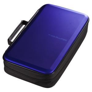訳あり新品 ブルーレイディスク収納セミハードケース 104枚収納 ブルー 箱にキズ、汚れあり FCD-WLBD104BL サンワサプライ