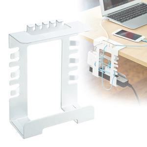 ケーブルトレー ホルダー 配線 収納 隠し デスク 電源タップ 幅14cm EEX-CBH04 ネコ...