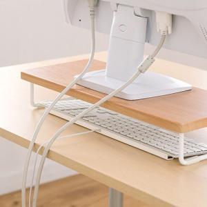 机上ラック 卓上 液晶 モニター ディスプレイ PC キーボード 台 木製 ネコポス非対応|esupply|05