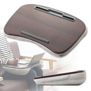 膝上でパソコン操作や作業ができるラップトップ用クッションテーブルです。タブレットスタンド付きで、車や...