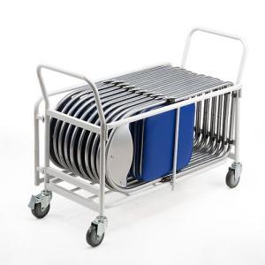 折りたたみ椅子用台車  会議イス用 パイプイス用 キャスター付き 移動・収納用 EZ1-SNC037CART ネコポス非対応 esupply 05