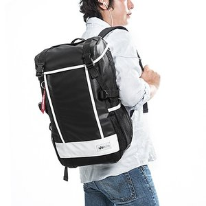 リュック 大容量 通学 通勤  メンズ 耐水 iPad・PC収納 A4サイズ対応 スクエアリュック バックパック ホワイト EZ2-BAGBP004W ネコポス非対応|esupply|02