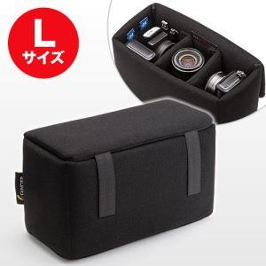 インナーカメラバッグ(ソフトクッションボックス・ワイドサイズ・ブラック) EZ2-BG019LBK ネコポス非対応 esupply