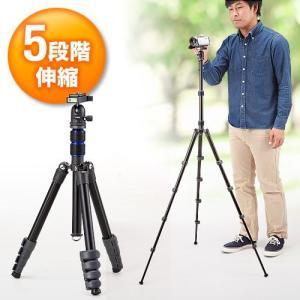 カメラ三脚 水準器搭載 一眼レフ・デジカメ対応 5段階高さ調節 EZ2-CAM031 ネコポス非対応 esupply