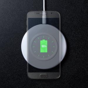 ワイヤレス充電器 Qi対応 急速充電 9W充電対応 薄型 最大15W 充電パッド iPhone・XPERIA XZ2・Galaxy S9 EZ7-WLC002 ネコポス非対応|esupply|15
