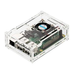 Raspberry Pi専用ケース アクリル製 ラズペリーパイ Pi 3 Model B/Pi 2 ...