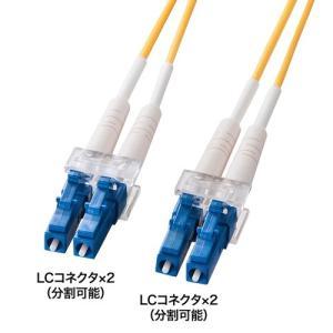 光ファイバーケーブル LC-LCコネクタ 10ミクロン 1m HKB-LCLC1-01L サンワサプライ 受注発注