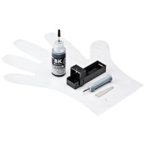 詰め替えインク キヤノン BCI-350PGBK 顔料ブラック 約3回分 詰め替え工具付  INK-...