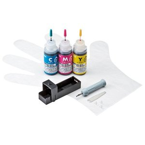 詰め替えインク キヤノン BCI-351C・BCI-351M・BCI-351Y 3色 各約5回分 詰...