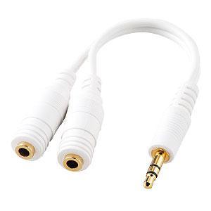 オーディオ分配ケーブル 3.5mmプラグ ステレオミニ 77cm  KB-IPSP サンワサプライ ネコポス対応