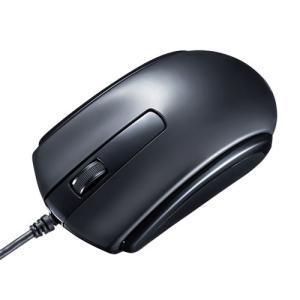 有線マウス USB Type-C接続 ブルーLED Windows Mac Android対応 ブラ...