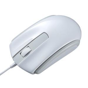 有線マウス USB Type-C ブルーLED Windows Mac Android対応 ホワイト...