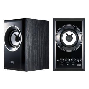 木製2chマルチメディアスピーカー ブラック MM-SPWD2BKN サンワサプライ ネコポス非対応|esupply