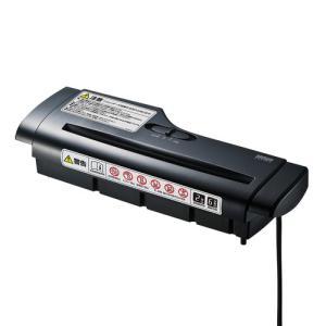 電動シュレッダー ストレートカット コンパクト A4用紙6枚細断 ゴミ箱付属なし PSD-AB66 サンワサプライ ネコポス非対応|esupply