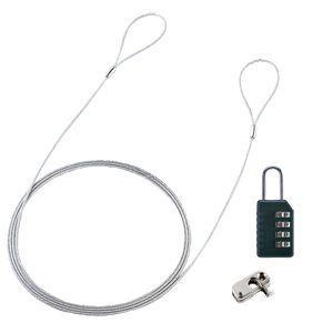 パソコンセキュリティワイヤーロック ダイヤル錠タイプ セキュリティスロット取付 簡単脱着 ノートPC 盗難防止 SL-58 サンワサプライ ネコポス対応