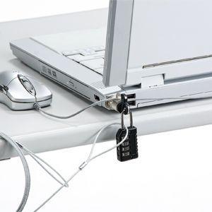 パソコンセキュリティワイヤーロック ダイヤル錠タイプ ノートPC 盗難防止 セキュリティスロット取付  SL-60 サンワサプライ ネコポス対応|esupply|03