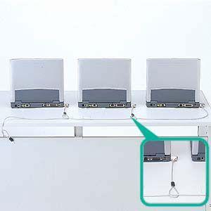eセキュリティ 組み合わせセキュリティ ロック付き短ワイヤー 複数PC連結 セキュリティスロット取付け SL-31用 SLE-6Sシリーズ用  SL-31連結No.1 SLE-7S-1 サン