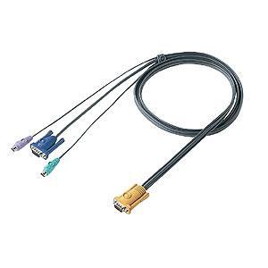 パソコン切替器用ケーブル 6.0m SW-KVM2LPN・SW-KVM4LPN専用 SW-KLP600 サンワサプライ ネコポス非対応|esupply
