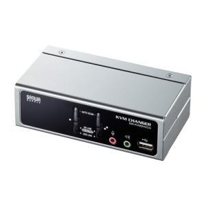 パソコン自動切替器 2:1 VGA PS/2 USB接続 ディスプレイエミュレーション機能 USB2.0ハブ搭載 SW-KVM2HVCN サンワサプライ ネコポス非対応|esupply
