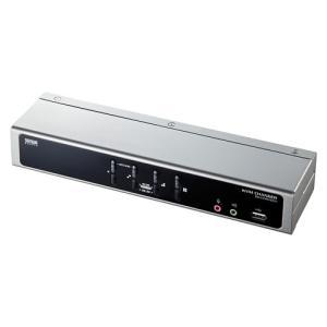 パソコン自動切替器 4:1 デュアルリンクDVI対応 PS/2・USB接続 ディスプレイエミュレーション機能 USB2.0ハブ搭載 SW-KVM4HDCN サンワサプライ ネコポス非対|esupply