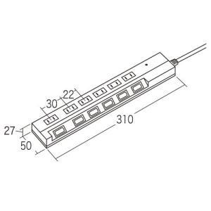 電源タップ 延長コンセント 6個口 1m 火災防止シャッター搭載 TAP-S17-1 サンワサプライ ネコポス非対応|esupply|02