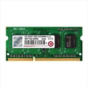 ノートPC用増設メモリ 2GB DDR3-1600 PC3-12800 SO-DIMM TS256MSK64V6N Transcend
