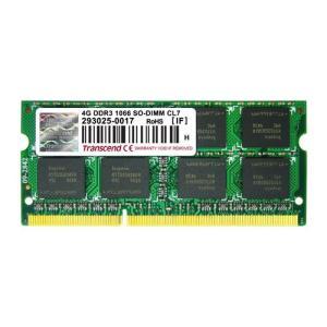 増設メモリ ノートPC用 4GB PC3-8500(DDR3-1066) TS512MSK64V1N Transcend トランセンド
