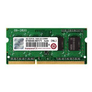 ノートPC用増設メモリ 4GB 低電圧 PC3-12800(DDR3L-1600) TS512MSK64W6H トランセンド Transcend
